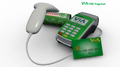 The ViA Cashier Solution show an ViA eBM device and 